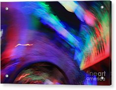 Acrylic Print featuring the pyrography Color Tunnel  by Chris Thomas