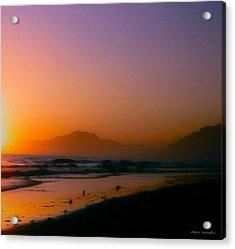 Color Wash Sunset  Acrylic Print by Debra     Vatalaro