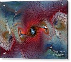 Color Wave-fractal Design Acrylic Print by Karin Kuhlmann