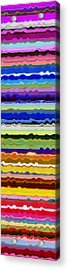 Color Waves No. 5 Acrylic Print by Michelle Calkins