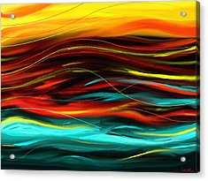Acrylic Print featuring the painting Color Waves by Shawna Rowe