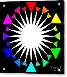 Color Wheel Burst Acrylic Print