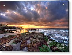 Color Within The Clouds Acrylic Print by Eddie Yerkish
