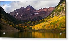 Colorado 14ers The Maroon Bells Acrylic Print