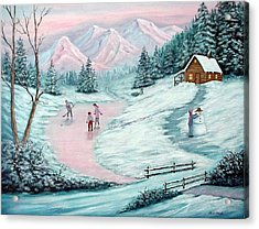 Colorado Christmas Acrylic Print by Fran Brooks