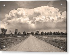 Colorado Country Road Stormin Sepia  Skies Acrylic Print by James BO  Insogna