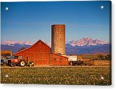 Colorado Farming Acrylic Print