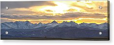 Colorado Front Range Panorama Gold Acrylic Print by James BO  Insogna