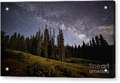 Acrylic Print featuring the photograph Colorado Milky Way by Brian Spencer