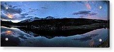 Colorado Moon To Milk Acrylic Print by Mike Berenson / Colorado Captures