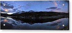 Colorado Moon To Milk Acrylic Print by Mike Berenson