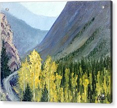 Acrylic Print featuring the mixed media Colorado Pass by Kenny Henson