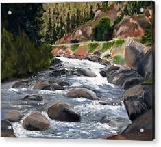 Acrylic Print featuring the painting Colorado Rapids by Jamie Frier