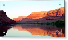 Colorado River At Dawn Panorama Acrylic Print by Douglas Taylor