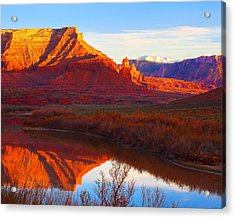 Colorado River Reflections Acrylic Print