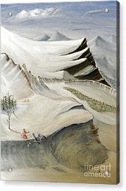 Colorado Skiing Acrylic Print by Stephen Schaps