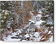 Colorado St Vrian Winter Scenic Landscape View Acrylic Print by James BO  Insogna