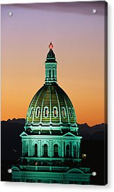 Colorado State Capitol Building Denver Acrylic Print by Panoramic Images