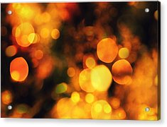 Acrylic Print featuring the digital art Coloured Bokeh Lights by Fine Art By Andrew David
