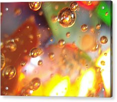 Colored Bubbles And Glass Acrylic Print