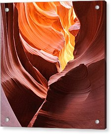 Colored By Light - Lower Antelope Canyon Arizona Acrylic Print by Clay and Gill Ross