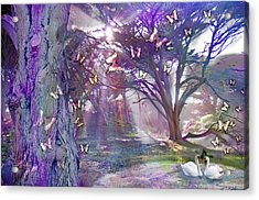 Colored Forest Acrylic Print by Alixandra Mullins