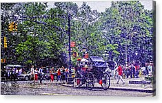 Colored Memories - Central Park Acrylic Print by Madeline Ellis