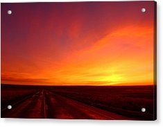 Acrylic Print featuring the photograph Colored Morning by Lynn Hopwood