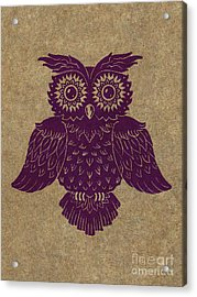 Colored Owl 1 Of 4  Acrylic Print