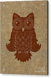 Colored Owl 2 Of 4  Acrylic Print by Kyle Wood