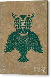 Colored Owl 4 Of 4  Acrylic Print by Kyle Wood