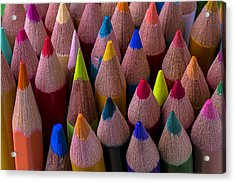 Colored Pencils Close Up Acrylic Print
