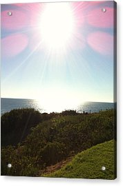 Colored Rays Of The Sun Acrylic Print