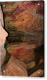 Colored Rock Layers Acrylic Print