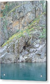 Colored Rocks Acrylic Print by Susan Woodward