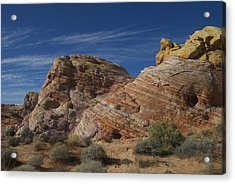 Colored Rocks Acrylic Print by T C Brown
