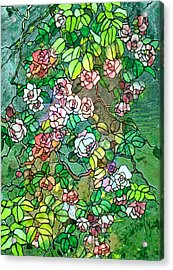 Colored Rose Garden Acrylic Print