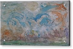 Colored Splash Nature Acrylic Print