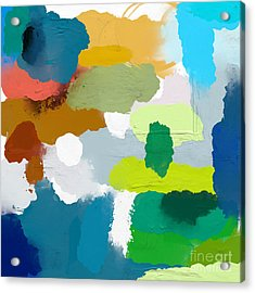 Colored Spots, Which Are Arranged On A Acrylic Print