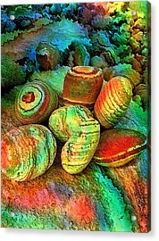Colored Stones By Rafi Talby   Acrylic Print by Rafi Talby