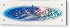 Colored Water Drop Acrylic Print by Panoramic Images
