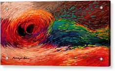 Colored Waves - Furious Red Abstract Print  Acrylic Print by Kanayo Ede