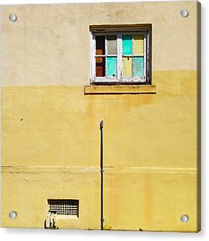 Colored Window Acrylic Print