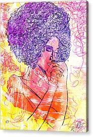 Colored Woman Acrylic Print by Kenal Louis