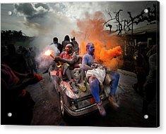 Colorflour Galaxidi, Greece. Acrylic Print