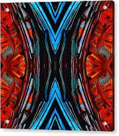 Colorful Abstract Art - Expanding Energy - By Sharon Cummings Acrylic Print by Sharon Cummings