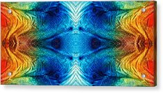 Colorful Abstract Art Pattern - Color Wheels - By Sharon Cummings Acrylic Print by Sharon Cummings