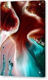 Colorful Abstract Art Wavy Road By Kredart Acrylic Print