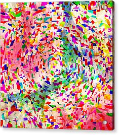 Colorful Abstract Circles Acrylic Print by Susan Leggett