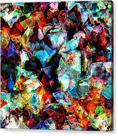 Acrylic Print featuring the digital art Colorful Abstract Design by Phil Perkins